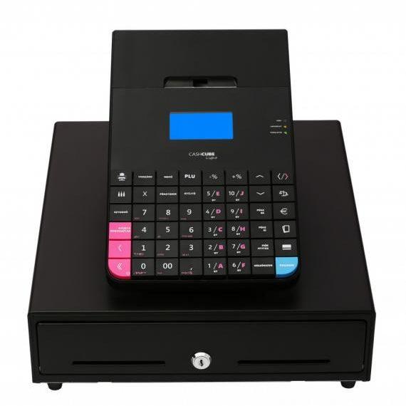 CashCube Light + kasszafiókkal / Fekete online pénztárgép