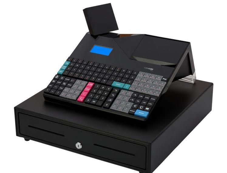 CashCube Pro kasszafiókkal / Fekete online pénztárgép